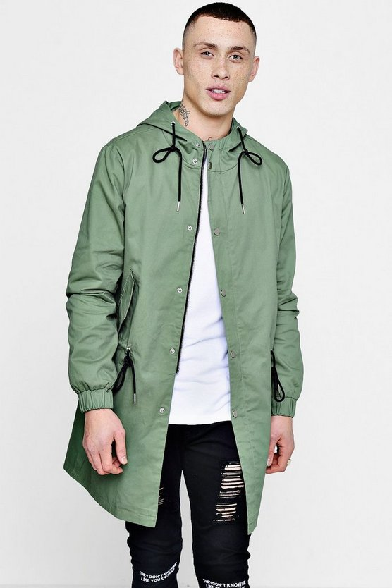Lightweight Fishtail Hooded Parka