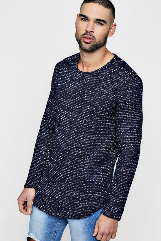 Lightweight Wool Mix Nep Jumper