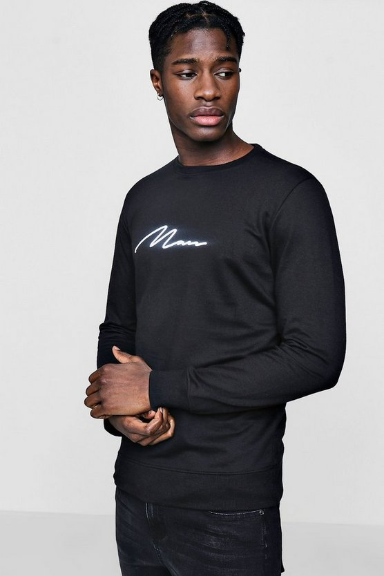 MAN Signature Print Sweater