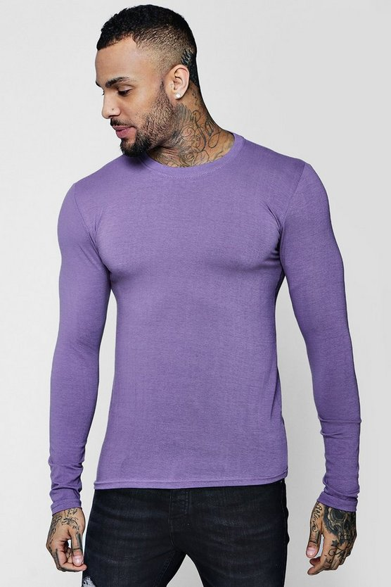 Long Sleeve Muscle Fit T-Shirt