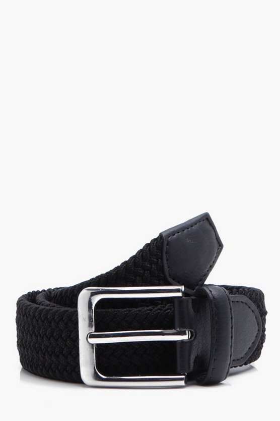 Mens Woven Black Belt