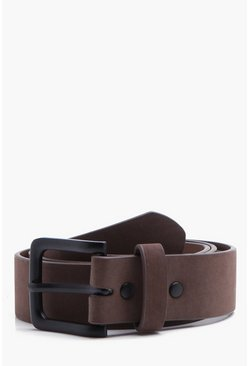 Mens Tan Classic Belt With Matte Finish