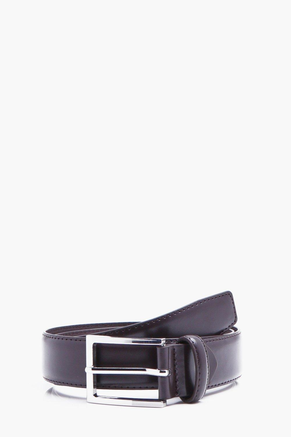 Squared Off Belt With Stitch Detail