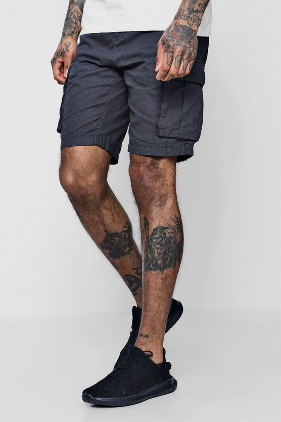 Cotton Canvas Cargo Shorts