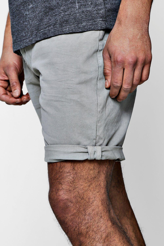 Pantalones dobladillo con oscuro algodón cortos volteado y de chinos rosa sarga FrRPq7Fw