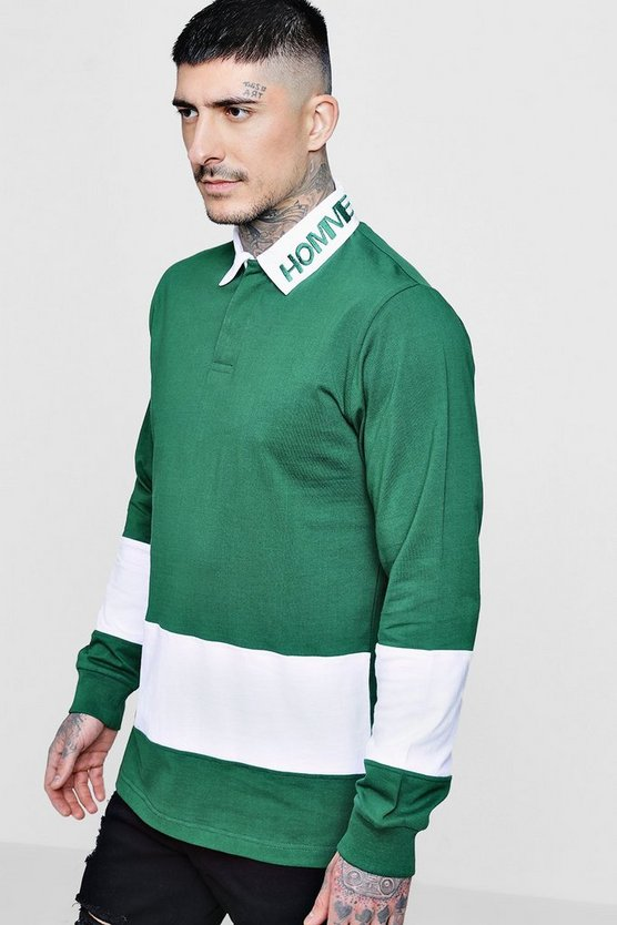 Homme Panel Rugby Sweatshirt