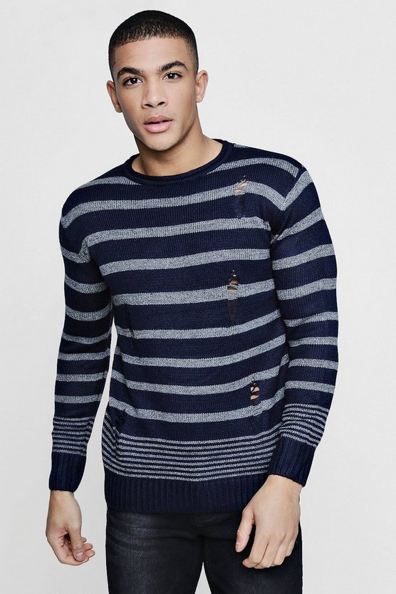 Multi Stripe Distress Jumper