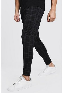 Smart Checked Jogger, Black, Uomo