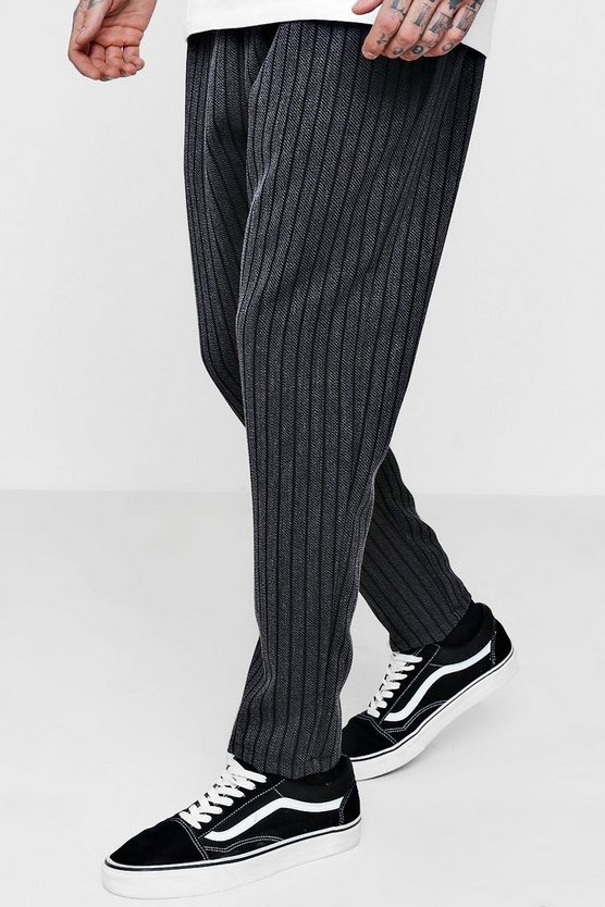 Stripe Trouser With Elasticated Waistband