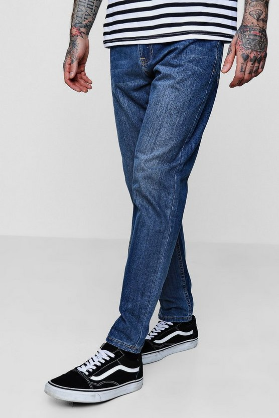 Slim Fit Mid Blue Denim Jeans