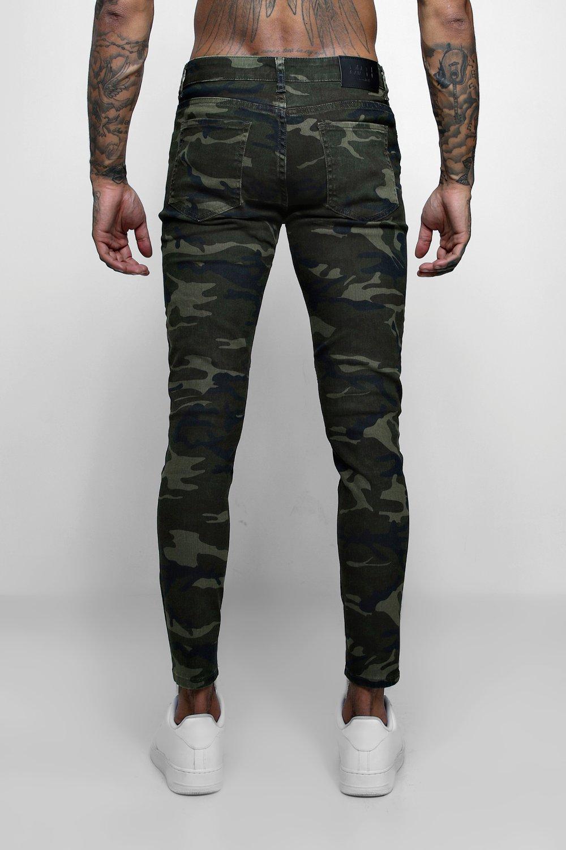Denim Jeans Fit Skinny Biker camo Camo qw7AnFw6