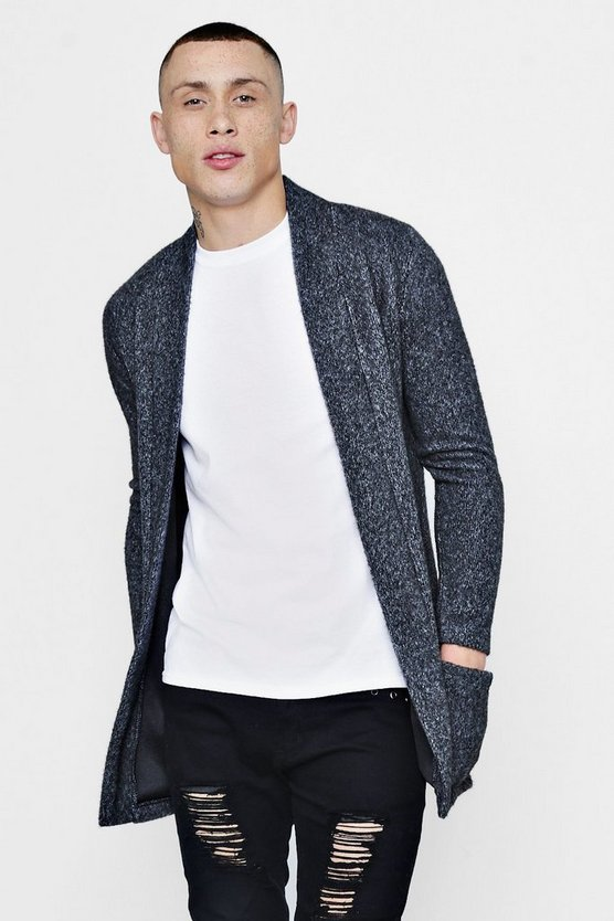 Longline Brushed Smart Cardigan