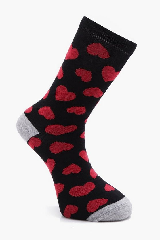 Single Pack Heart Socks