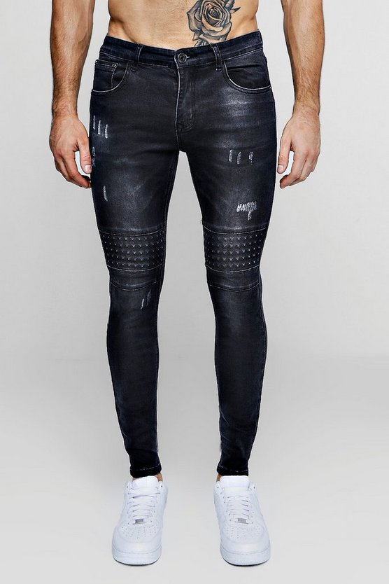 Skinny Fit Jeans With Embossed Stud Details