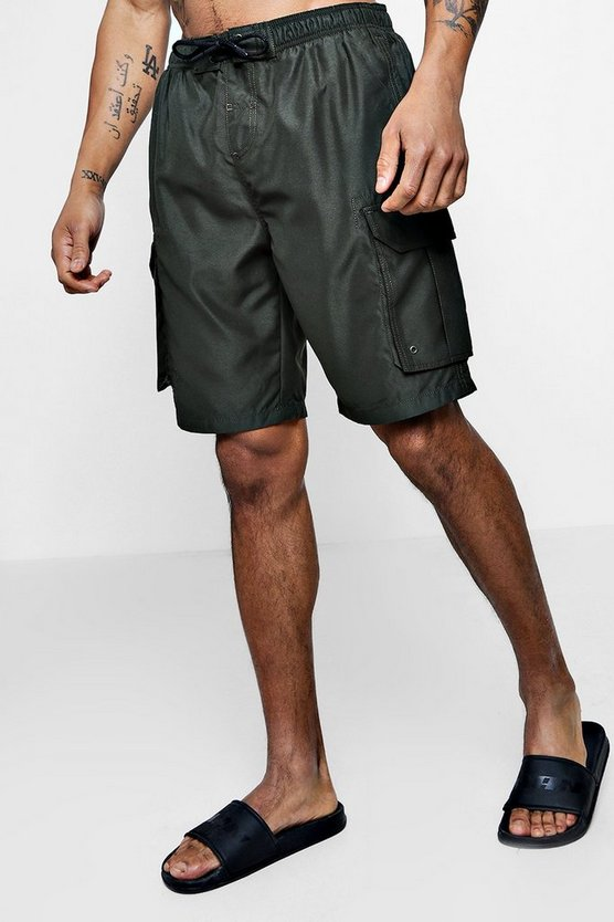 Swim Shorts With Cargo Pockets