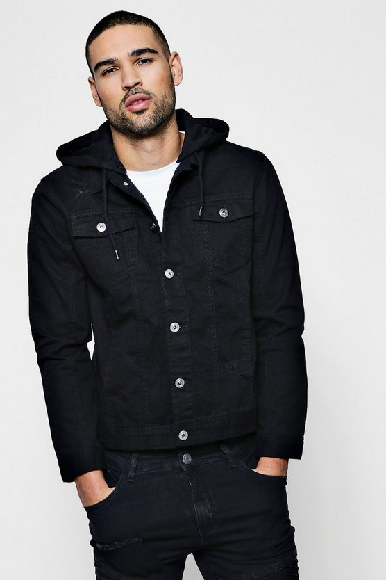 Denim Western Jacket With Hood