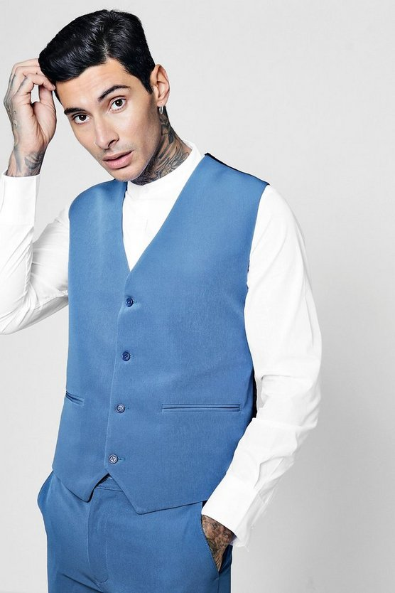 Skinny Fit 4 Button Waistcoat