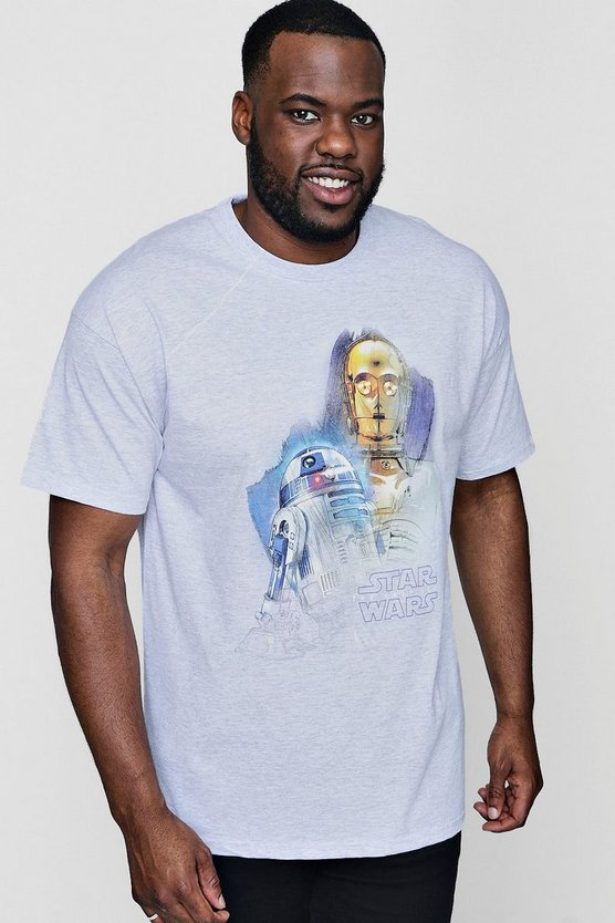 Big And Tall Droids Portrait License T-Shirt