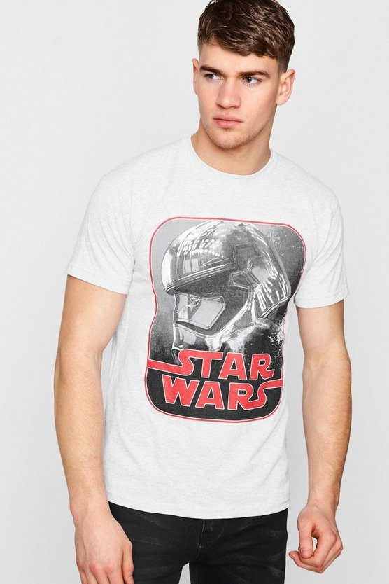 Star Wars Phasma Retro Print Licence T-Shirt