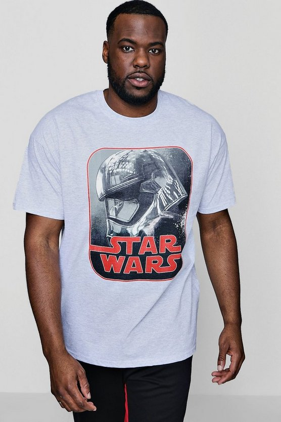 Big And Tall Star Wars Phasma Retro License T-Shirt