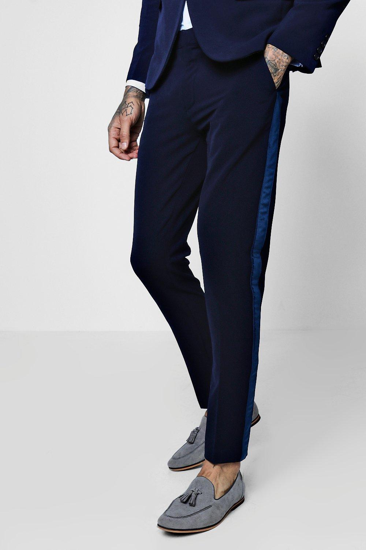 0823578955f85 Pantalones de vestir skinny fit con de terciopelo. Hover to zoom