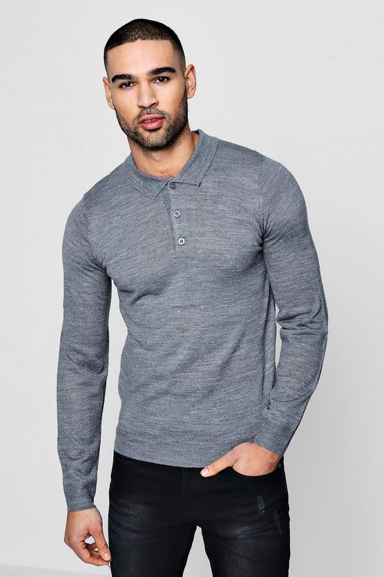 Mens Polo Neck Knit