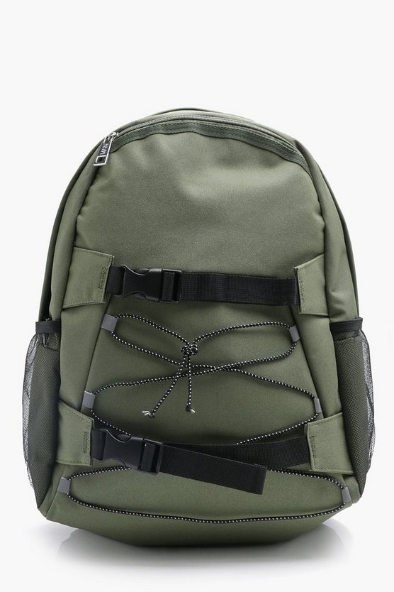 Lace Up Rucksack With Buckle Detail