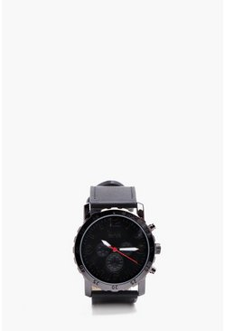 Mens Black MAN Multi Face Sport Watch