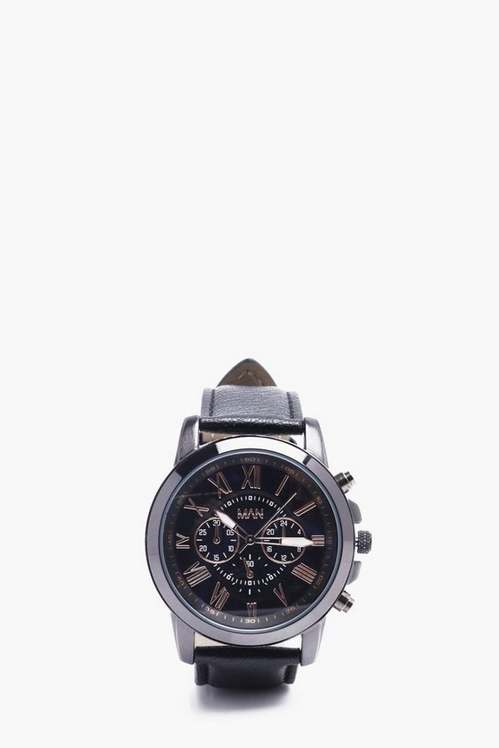 MAN Watch With PU Strap