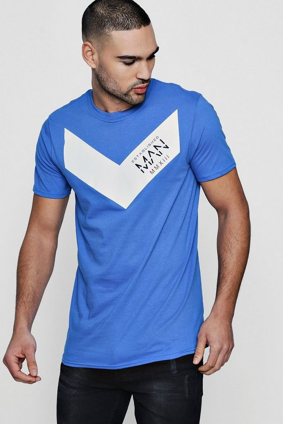 MAN Chevron Print T-Shirt