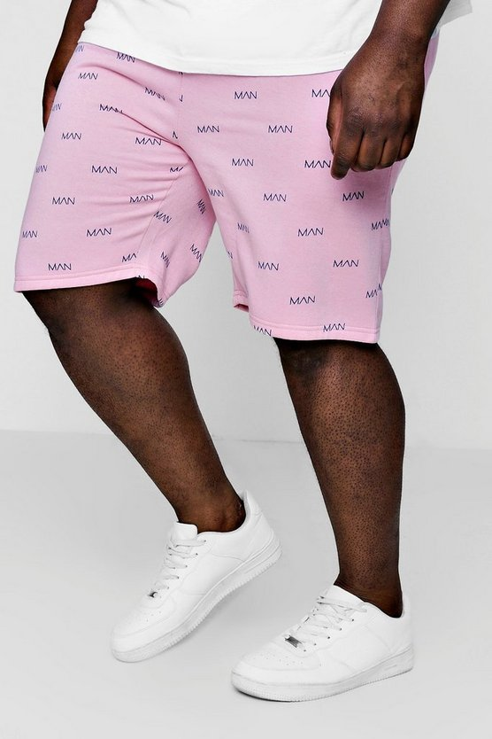 Big And Tall MAN Print Basketball Shorts