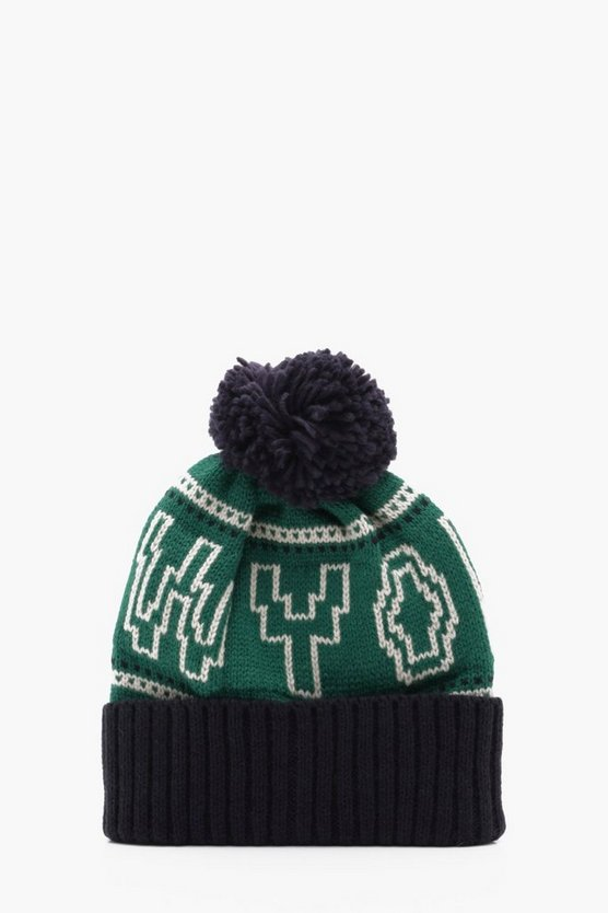 New York Knitted Beanie Hat