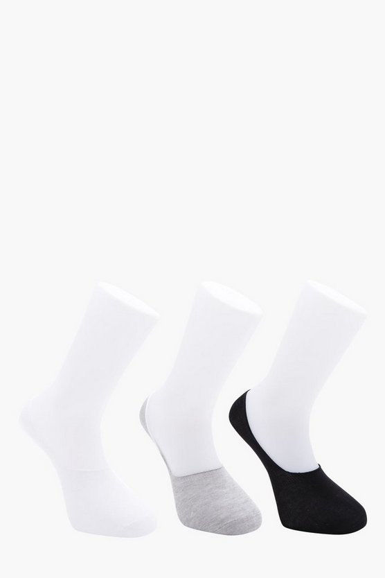 MAN 3 Pack Mixed Invisible Socks