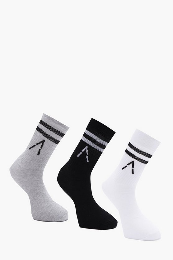 Active 3 Pack Mixed Sport Socks