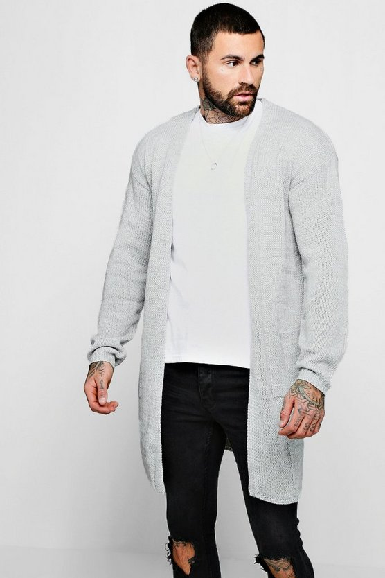 Longline 2 Pocket Knitted Cardigan
