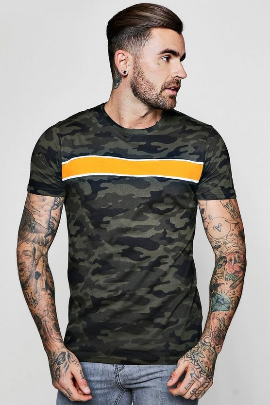 Camo T-Shirt With Chest Panel
