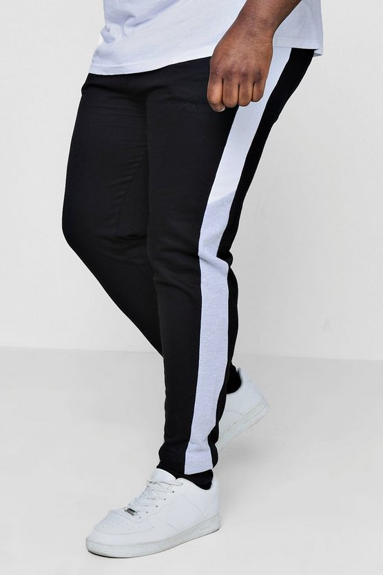 Big And Tall Skinny Fit Colour Block Joggers