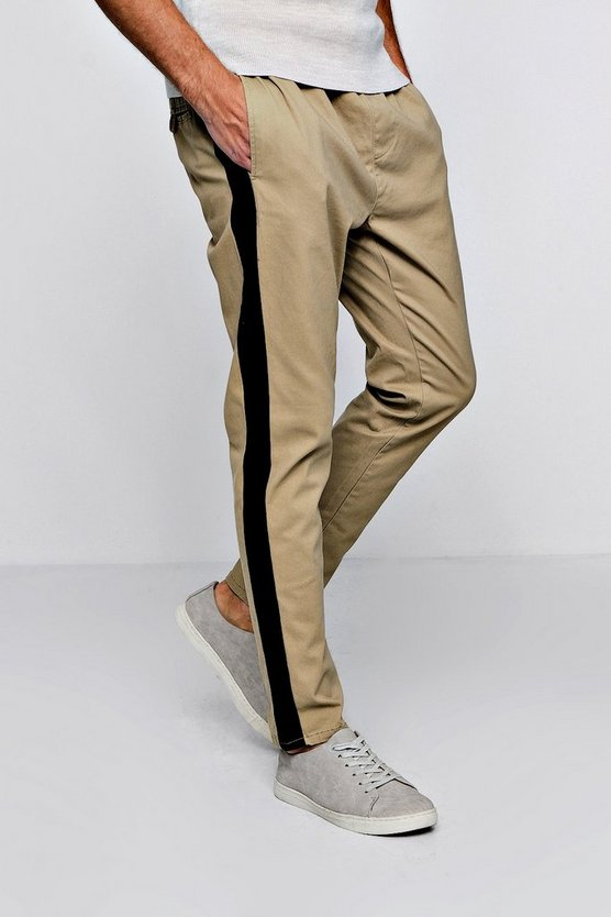Slim Tapered Jogger With Side Stripe