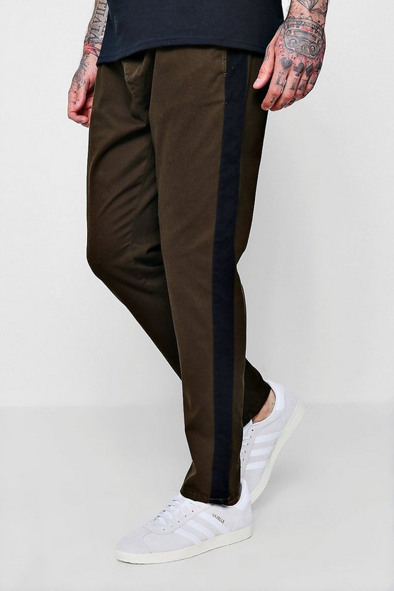 Slim Tapered Woven Jogger With Side Stripe