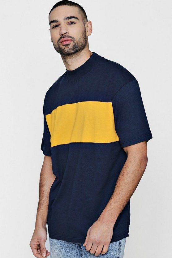 Boxy Fit Colour Block T-Shirt
