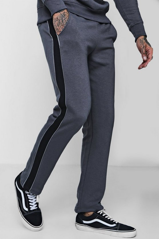 Skinny Joggers With Side Panel Co-ord