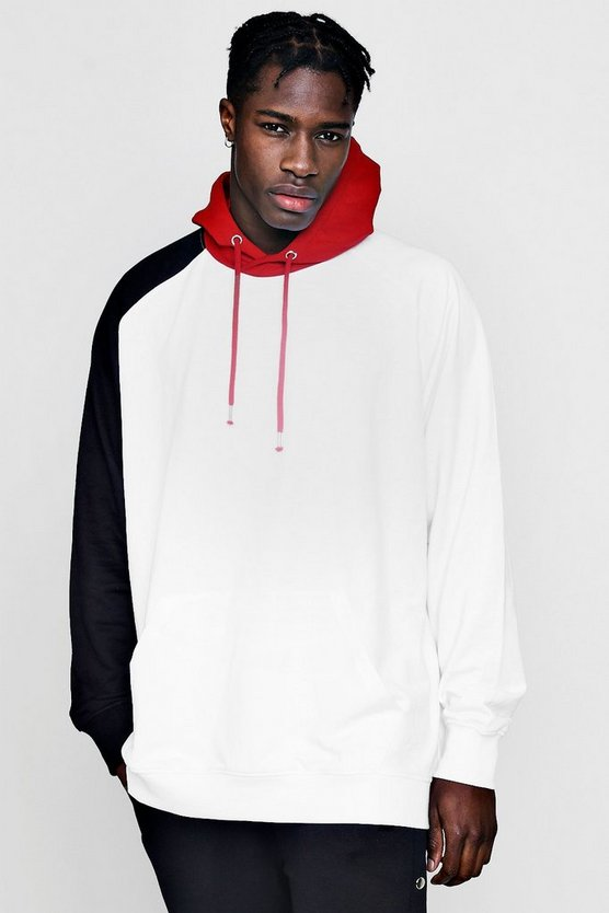 Extreme Oversized Colour Block Hoodie