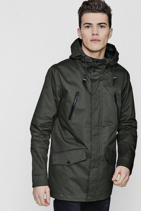 Coated Cotton Lightweight Parka