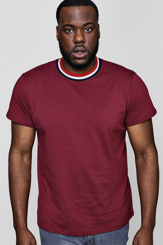 Big And Tall Sports Rib MAN T-Shirt