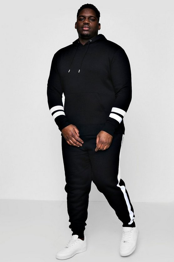Big And Tall Colour Block Tracksuit