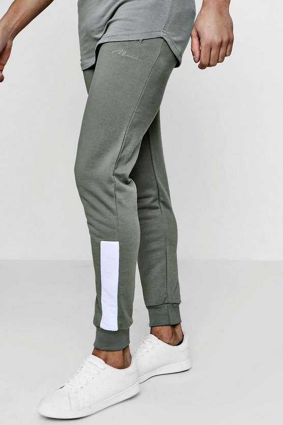 Skinny Fit MAN Signature Joggers With Panelled Cuff