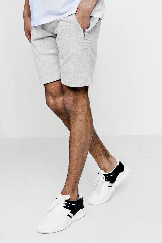Skinny Fit MAN Signature Shorts With Side Panelling