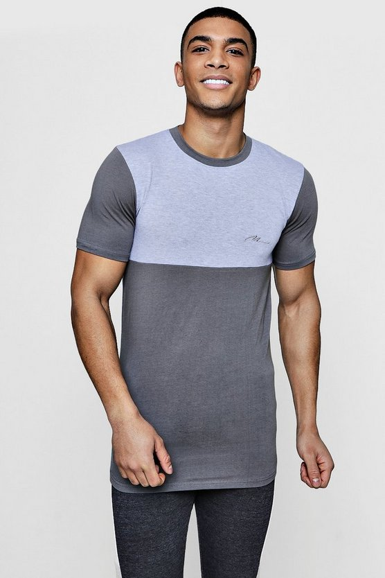 Longline MAN Signature Muscle Fit T-Shirt