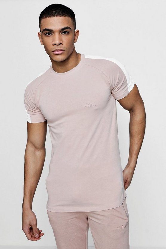 T-Shirt contrasté Coupe fit Signature MAN