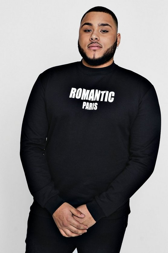Big And Tall Romantic Paris Sweater